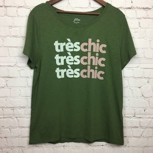 J. Crew Graphic Treschic Tee Extra Large